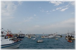 Sortie en mer pour la fête des pêcheurs, 6 juillet 2008