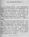 Annonce du bal et du banquet de la Sainte-Cécile (Journal de Cette du 24 novembre 1888)