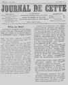 Journal de Cette du 11 juin 1890