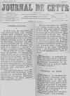 Journal de Cette du 29 juillet 1890