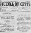 Programme de concert pour la fête locale (Journal de Cette du 31 août 1890)