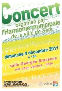 Affiche du concert de la Sainte-Cécile 2011