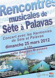 Affiche du concert du 25 mars 2012