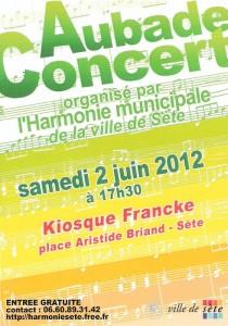 Aubade-concert du 2 juin 2012