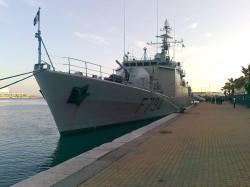 L'aviso Enseigne de vaisseau Jacoubet le 1er décembre 2012 dans le port de Sète