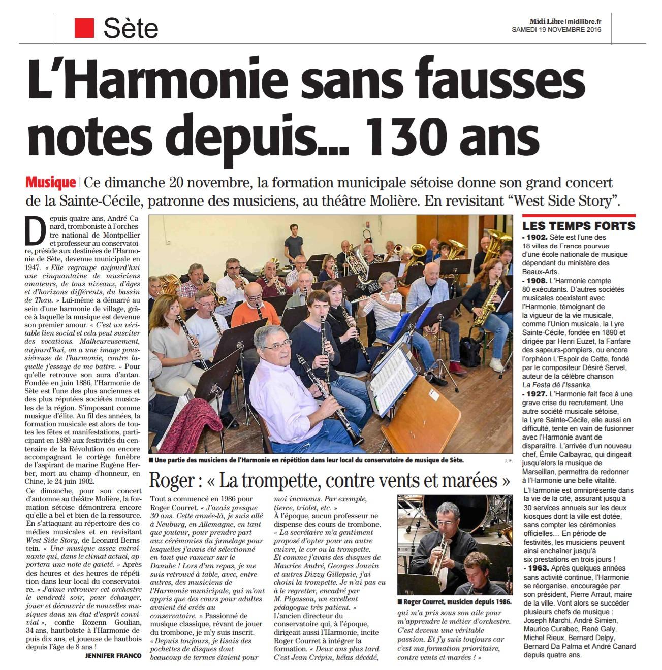 Midi Libre du 19/11/2016
