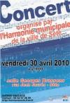 Affiche du concert du 30 avril 2010