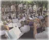 Concert de l'Harmonie municipale pour l'inauguration du kiosque Franke restauré, le 21 juin 2007 (photo : Midi Libre)