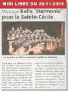 Midi Libre du 28/11/2005